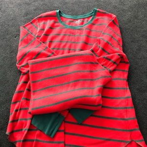 Green and Red Striped Pajamas